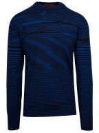 Blue & Black Striped Knitted Long Sleeve T-Shirt