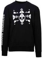 Black Trippy Logo Crew Sweatshirt