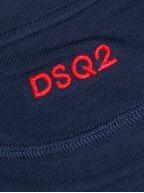 Navy DSQ2 Logo Crew Neck T-Shirt