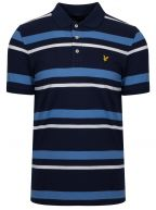 Blue Striped Polo Shirt