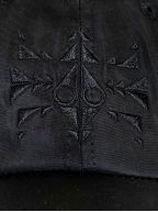 Black Embroidered 'Trippy' Cap