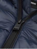 Navy Regular Fit Logo Badge Ozwizz2 Down Jacket