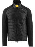Black Jayden Fleece Nylon Jacket