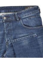 "Tapered Stretch D Bazer Blue Jean 34"" Leg"