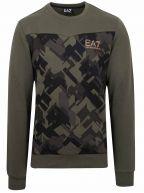 Khaki Graphic Sweatshirt