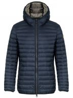Navy Blue Down Filled Hooded Jacket