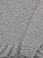 Dark Grey Cotton Pique Half Zip Jumper