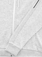Grey Saggy Zip Hooded Sweatshirt