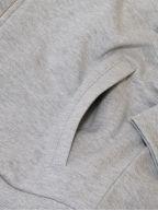 Grey Pique Zip Sweatshirt