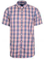 Indigo Check Short-Sleeve Shirt