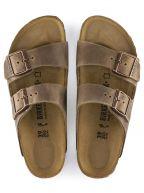 Tobacco Brown Arizona Oiled Leather Sandal