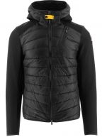Black Nolan Fleece Nylon Hooded Jacket