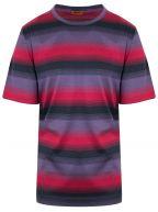 Deep Red Striped T-Shirt