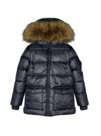 Authentic Fur Down Filled Navy Jacket