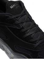 Lurus Clear Black Suede Sneaker