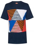 Patchwork Navy T-Shirt