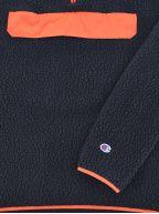 Navy Hooded Half Zip Top