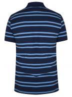 Persian Blue Striped Polo Shirt