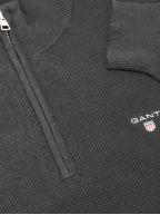 Half Zip Grey Pique Sweatshirt