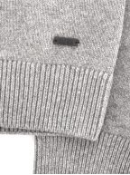 Grey Kontreal Knitted Crew Neck Sweater