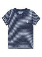 Timberland Kids Striped Logo Navy T-Shirt