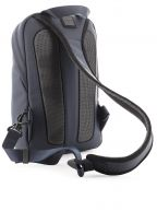 Dark Blue Faux Leather Single Strap Backpack