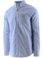 Blue Long-Sleeved Broadcloth Shirt