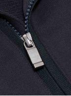 Navy Blue Zip Top