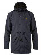 Navy Micro Fleece Lined Parka Jacket