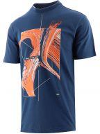 Blue Short Sleeve Jersey Print T-Shirt