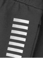 Grey Logo Cotton Shorts