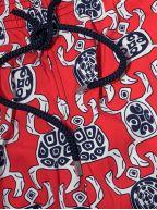 Moorise Red Graphic Swim Shorts