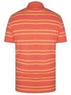 Coral Striped Polo Shirt