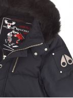 Navy 3Q Fur Hooded Jacket