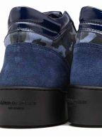 Navy Camouflage Suede Propulsion Mid Sneaker