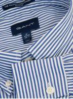 College Blue Regular Fit Broadcloth Banker Shirt