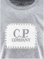 Grey Embroidered Print Logo T-Shirt
