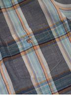 Persian Blue Check Regular Short-Sleeve Shirt