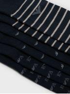 Navy 3 Pack Stretch Cotton Socks