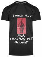 Crew Neck Black 'Thank You' T-Shirt