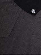 Long Billiam Black Polo Shirt