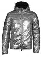Down Filled Black & Silver Reversible Jacket
