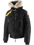 Black Gobi Hooded Down Bomber Jacket