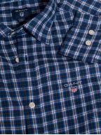Indigo Blue Twill Check Long-Sleeve Shirt