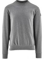Grey Summer Cotton Fleece Crew Neck Sweatshirt