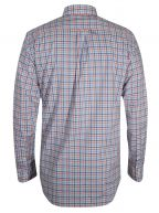 Coral Gingham Long-Sleeve Shirt