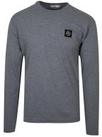 Grey Patch Long Sleeve T-Shirt