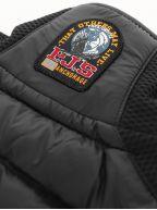 Black Zavier Fleece Nylon Vest