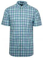 Pool Green Check Short-Sleeve Shirt