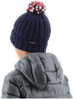 Navy Semiury Bobble Hat